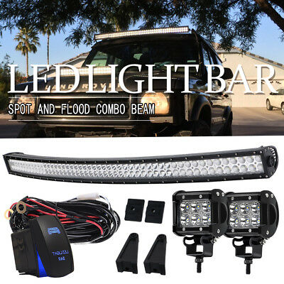 Offroad Curved 700W 52inch LED Light Bar Flood Spot Combo Truck Roof Driving 4WD