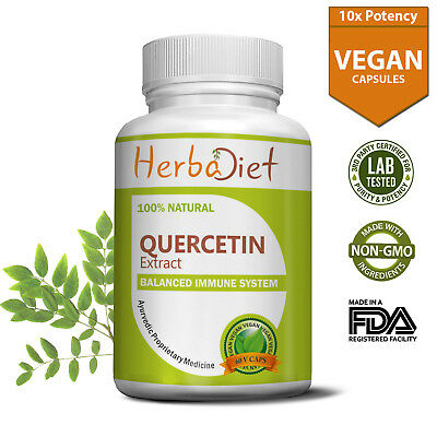 Quercetin Extract Vegetarian Capsules 500mg Immune Support Natural Antioxidant