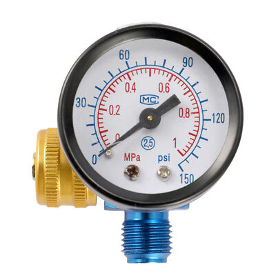 Airbrush Air Pressure Regulator Gauge Compressor Regulating Valve Pneumatic Stri
