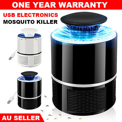 Electronic Mosquito Killer Bug Zapper Trap LED Light USB Insect Catcher Home