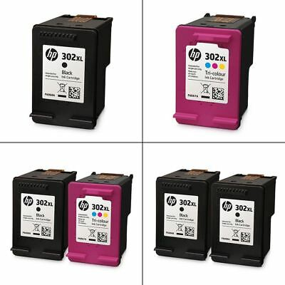 Original HP 302XL Black & Colour Ink Cartridges - Genuine HP XL Cartridges