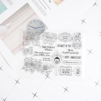 Papillons hiboux silicone clair Tampons Seal Scrapbooking album Carte Diary