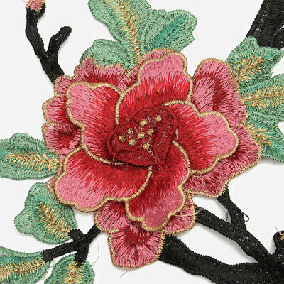 Peony Lace Bouquet Flower Embroidery Iron On Applique Patch Sewing Pink DIY #AM8