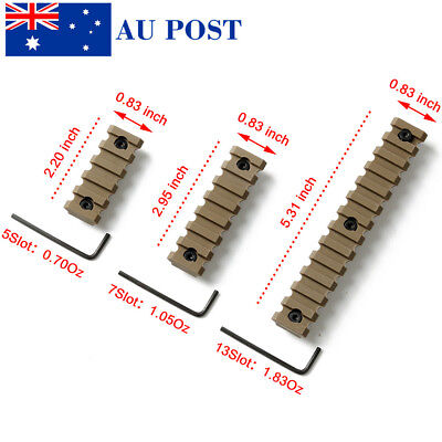 Hunting 5 7 13 Slot ABS Carrier Rail Section 20mm Picatinny Weaver Rail Set AU