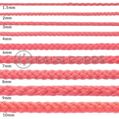 Red Polypropylene Rope Braided Poly Cord Strong String Camping Sailing Yacht