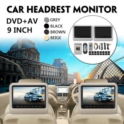 "9"" Écran Digital LCD Universel Voiture Lecture DVD+AV Head Up Remote Control"