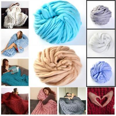 Thick Bulky Wool Yarn Soft Chunky Hand Knitting Hat Scarf Blanket Arm Knit 8C