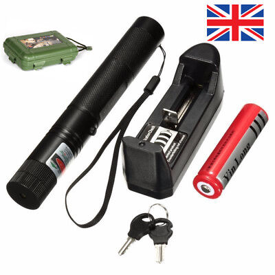 Green Laser Pointer Lazer Pen Box Beam Light Focus 303 532nm With Key Xmas Gifts