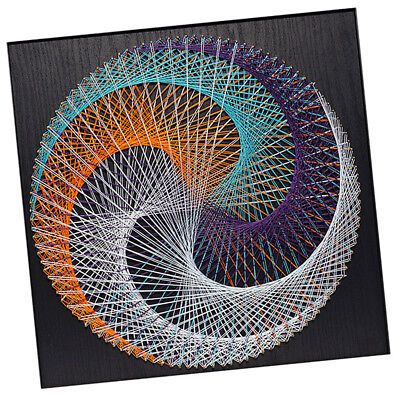 Vintage Pins String Art - Geometric D String Art Kit Winding Painting Crafts