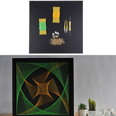 Pins String Art Kit with Tool Spiral Geometry DIY Winding Painting 40x40cm