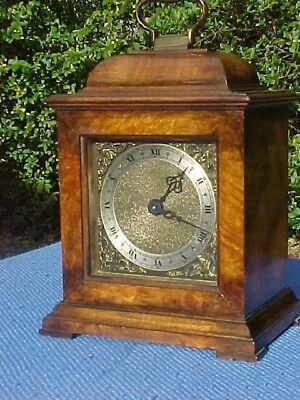 Vintage French Bayard Walnut Mantel Bracket Clock Working.