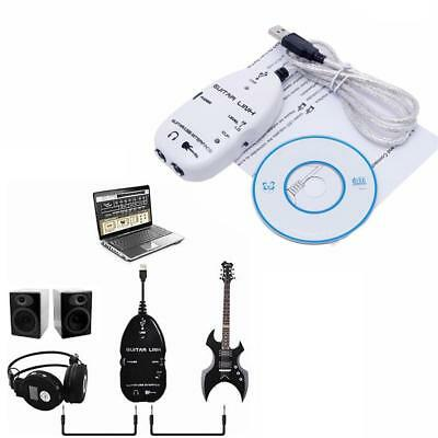Electric Guitar to USB Interface Link Adapter Cable MAC/PC Mac Recording