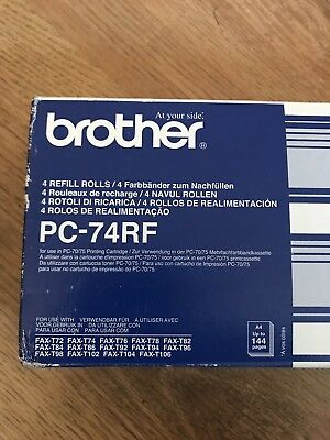 brother pc 75 fax printer cartridges and refill rolls X 4
