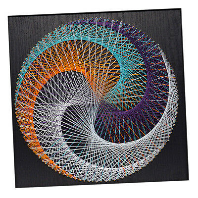 String Craft Geometry D String Art Kits DIY Home Decor for Adults 40x40cm