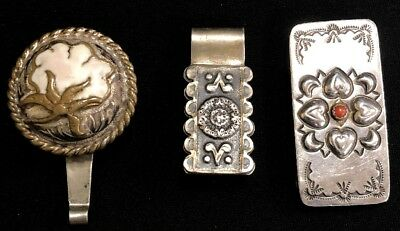 Vintage Sterling Silver Money Clips~Lot Of 3~71.1g Total Weight