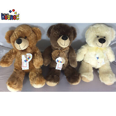 Traditional Teddy Bear Soft Classic Bow Plush Cuddly Bedtime Toy Kids Gift Xmas