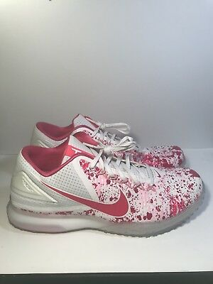 abd286f99e5 Rare Nike Zoom Trout 3 Turf Mother s Day White Hyper Pink Size 11.5 844628  167
