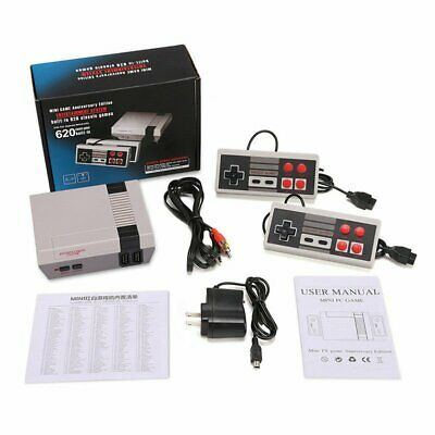 Retro Mini TV Game Console Classic 620 Games Built-in with 2 Controller