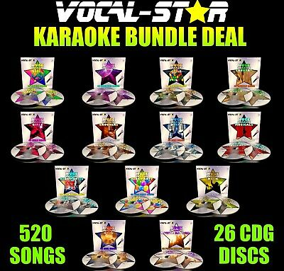 KARAOKE DECADES BUNDLE HITS 240 SONGS 60s, 70s, 80s, 90s, 00s, 10s CDG CD+G DISC