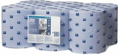 Tork 128208 Wiping Paper M2 Advance Centerfeed Blue 1 Ply 6 Rolls