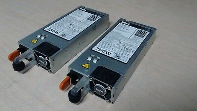 Lot of (2) Dell Poweredge R620 R720 750W PS  5NF18 05NF18