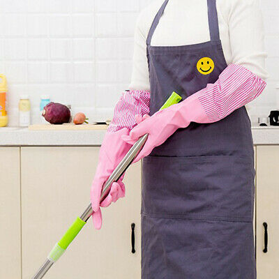 Strong Household Rubber Gloves Long Sleeve Washing Cleaning Gloves Kitchen