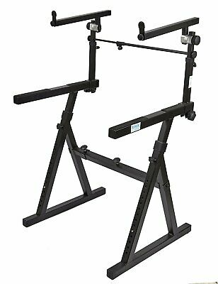 Knox Gear Z-Style Two Tier Electronic Keyboard Piano Stand (Version 2)