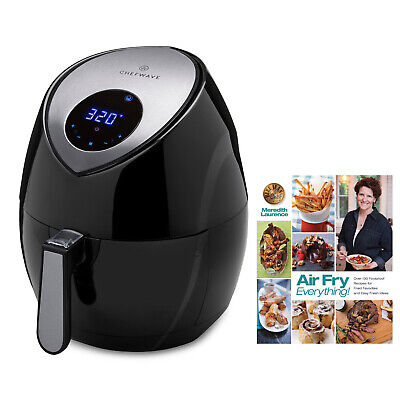 ChefWave 7.4-Quart Air Fryer With Air Fry Everything Foolproof Recipes Cookbook