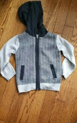 Splendid hooded houndstooth cardigan sweater Gray boys 18 to 24 months