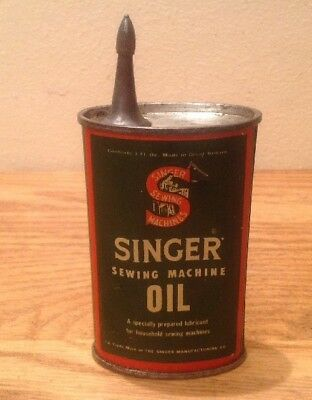 Vintage Singer Sewing Machines 3Fluid Ozs Oil Can