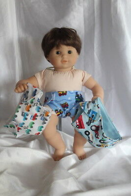Baby Doll Diapers fits 15inch American Girl Bitty Baby Twins Clothes Lot Boy