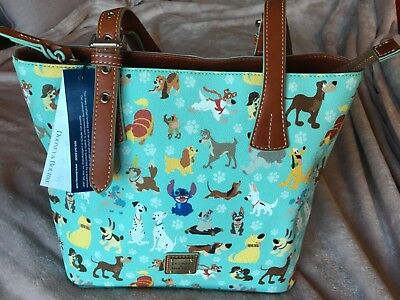 NWT Disney Dooney 2017 Dogs Tote with Perfect Lady/Tramp & Pongo/Perdita