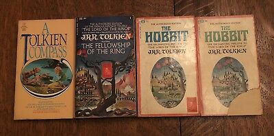 Lot Of Vintage Tolkien Books. First Edition Paperback hobbit.