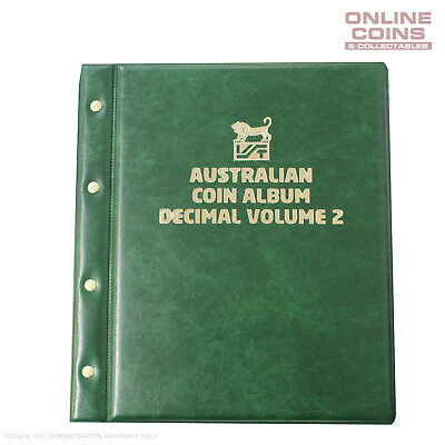 VST Decimal Coin Album Padded Cover Printed Interleaves - VOLUME 2  GREEN