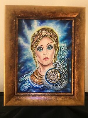 """Original Painting  """"Pandora's Box, the all gifted"""" Hand Painted OOAK, E.Edwards"""