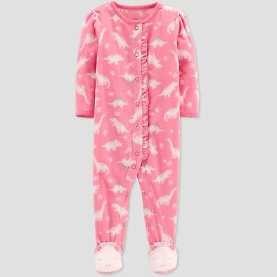 303368a0ce6ee Neuf Filles Just One You Carter s Dinosaure Polaire Sommeil et Joue Pyjamas