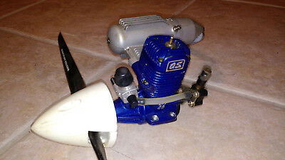 Os Max LA 46 RC model airplane engine with muffler propeller and nose cone