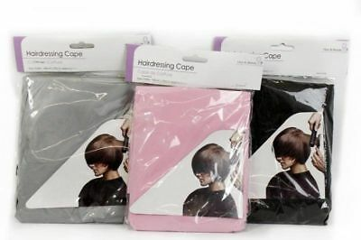 Hairdressers Barbers Hair Cut Style Hairdressing Gown Cape Salon Pink Black Grey