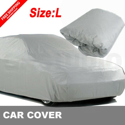 L Size Large Full Car Cover UV Protect Waterproof Outdoor Dirt Resistant