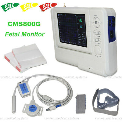 CMS800G Fetal Monitor Baby Heart Rate Ultrasound,TOCO transducer Fetal Move Mark