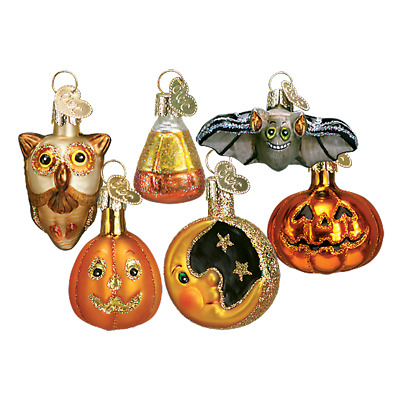 Old World Christmas Halloween Ornament...Set Of 6...One Each As Shown