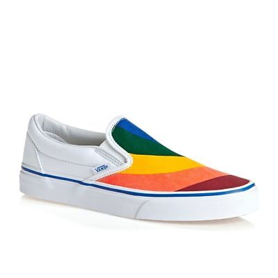 fba50b753b1 NEW Vans Slip On Rainbow Chex Skate Shoe Multi Checker.