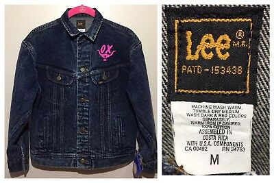Vtg 80s Lee Rider OX Logo Western Jean Jacket Size M New Old Stock