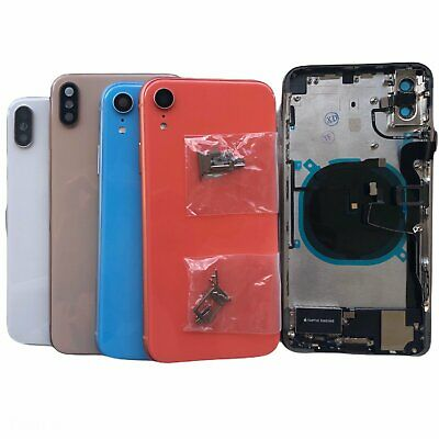 NEW Back Glass Housing Cover Frame Assembly For iPhone 8 Plus X XS Max XR W/LOGO