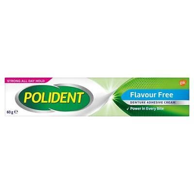 NC Polident Denture Adhesive Cream Flavour Free 60g