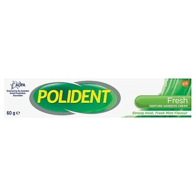NC Polident Denture Adhesive Cream Fresh Mint 60g