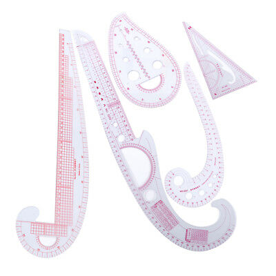 New 5Pcs/set Measure Tool French Curve Metric Ruler fit Sewing Design perfect