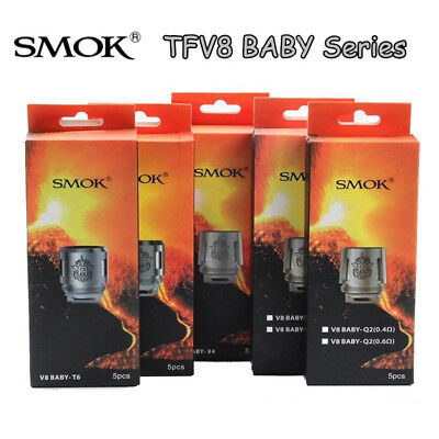 SMOK² TFV8 Big Baby Beast Coils Replacement Head V8- Q2 X4 T6 T8 M2 Tank² 5pcs
