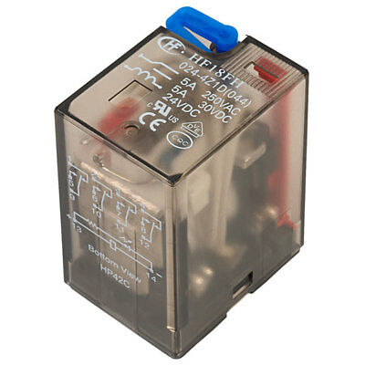 Hongfa HF18FH0244Z1D 4 Pole 5A 24VDC 14 Pin Plug In Power Relay