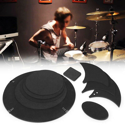 10Pcs Bass Snare Drum Sound Off Quiet Mute Silencer Drumming Practical Pad Cool